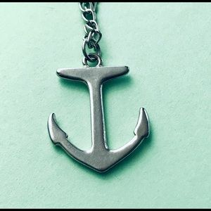 """Jewelry - Silver Anchor Charm On 20"""" Chain"""
